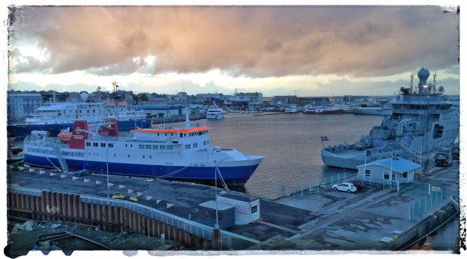 Late evening, Reykjavik harbor