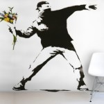 Banksy Mural Wallpaper