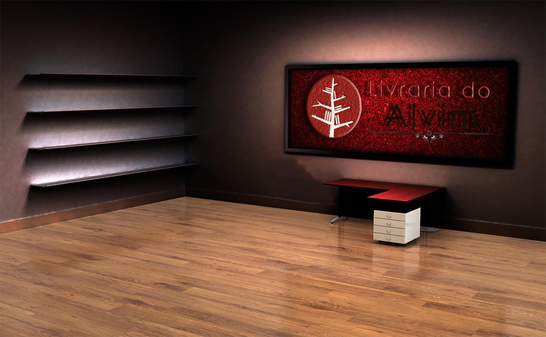 3d Bookshelf Wallpaper Fancy Mockup Junaiddottahir