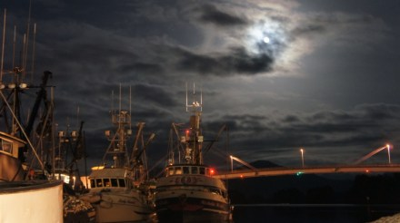 Commercial Fishing Photo Of The Day | Sitka Harbor Moon