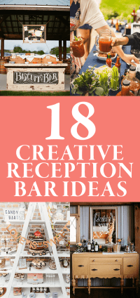 18 Creative Reception Bar Ideas | Junebug Weddings