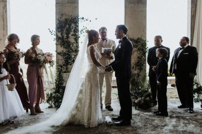 Romantic Dusty Rose French Riviera Wedding at Chateau ...