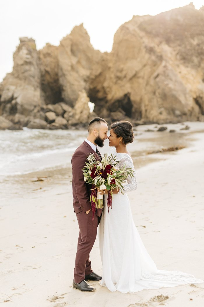 These Cuties Ditched Their Big Wedding Plans for a Secluded Big Sur - Wedding Plans