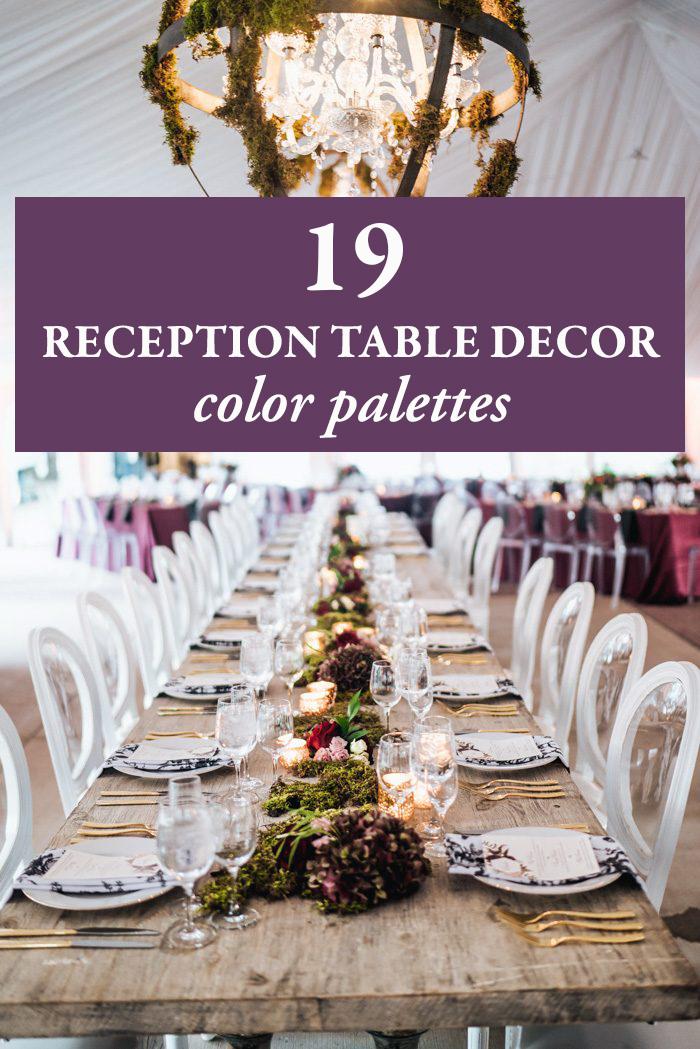 19 Reception Table Decor Color Palettes Junebug Weddings