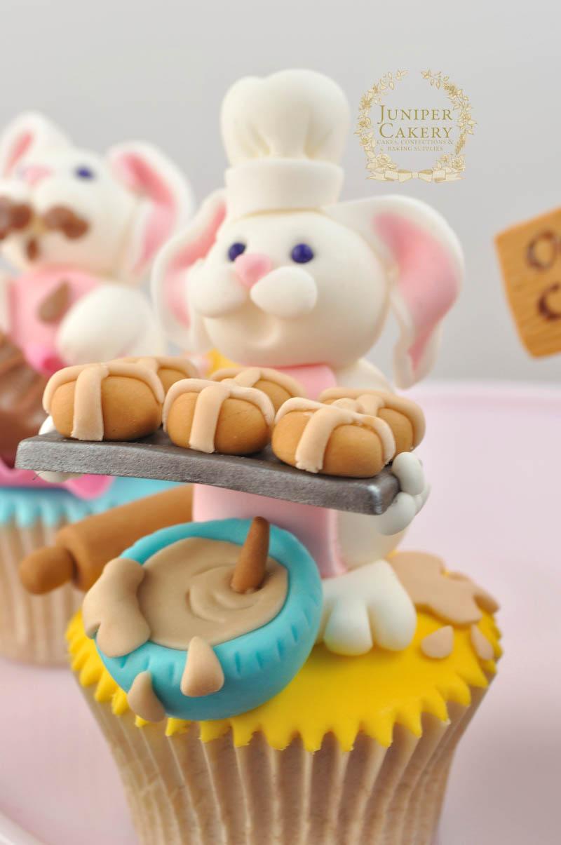 Easter Hot Cross Bunny Cupcake by Juniper Cakery