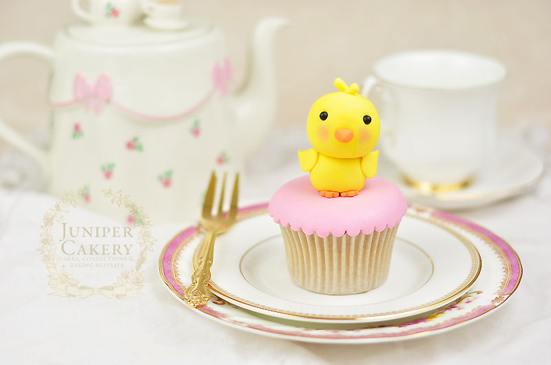 How to create a gum paste chick for Easter cake decorating by Juniper Cakery