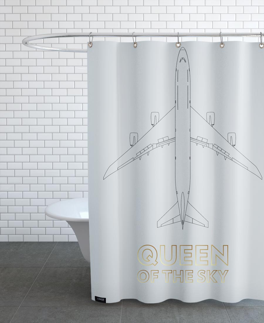 Black Queen Shower Curtain Queen Of The Sky As Shower Curtain By Marc Schulthess Juniqe Uk