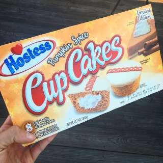 Hostess Pumpkin Spice Cupcakes