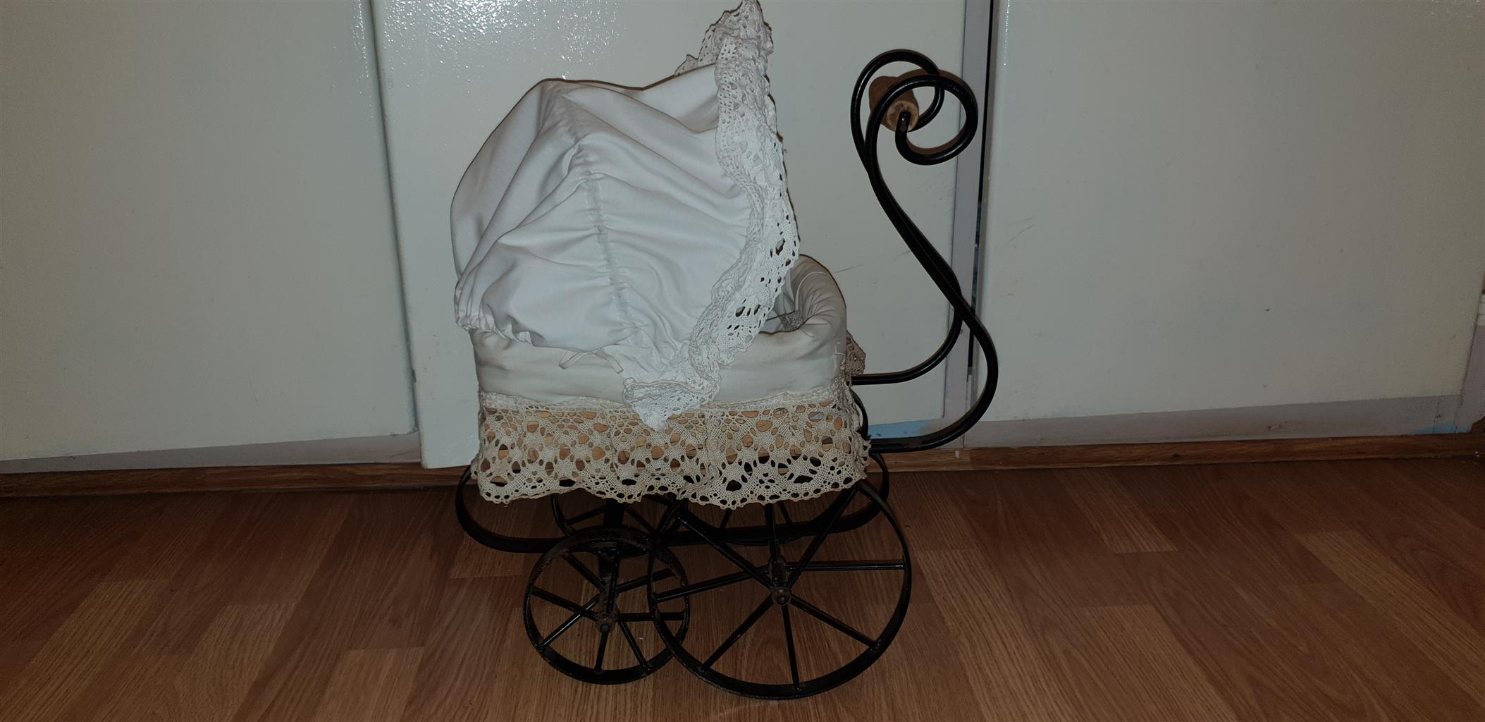 Vintage Toy Stroller Vintage Doll Stroller With Doll And Bedding