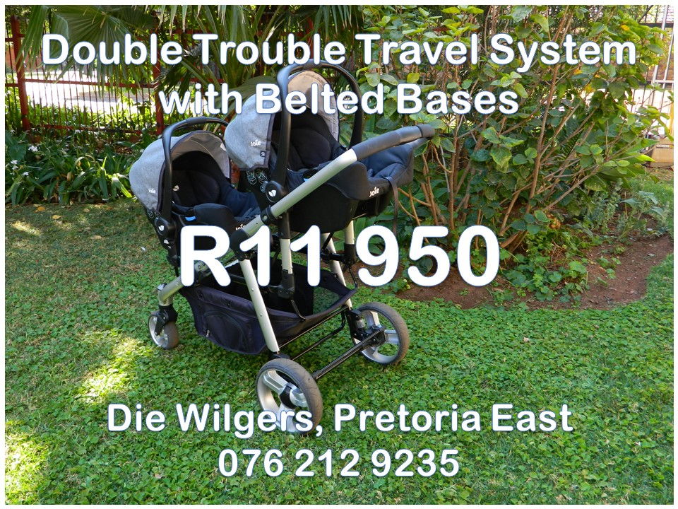 Double Pram For Sale Johannesburg Second Hand Double Trouble Travel System With Joie Belted