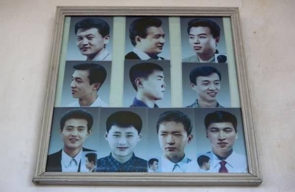 北朝鮮男性の髪型