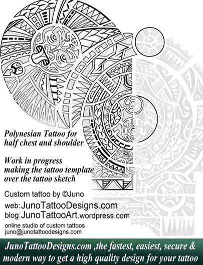 Polynesian tattoo template by juno tattoo designs - How to create - tattoo template