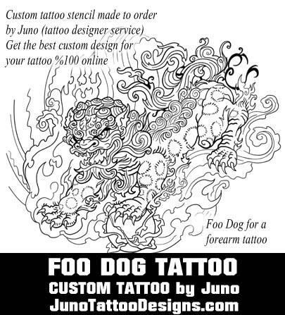 foo dog tattoo template by juno tattoo design - Create a custom