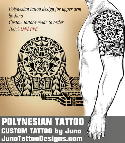 samoan polynesian tattoo , turtle sun tattoo, juno tattoo designs