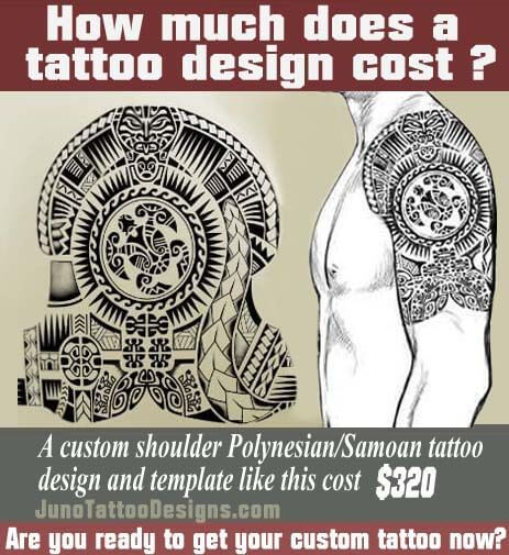 how does much a tattoo cost, polynesian samoan shoulder tattoo, juno tattoo design