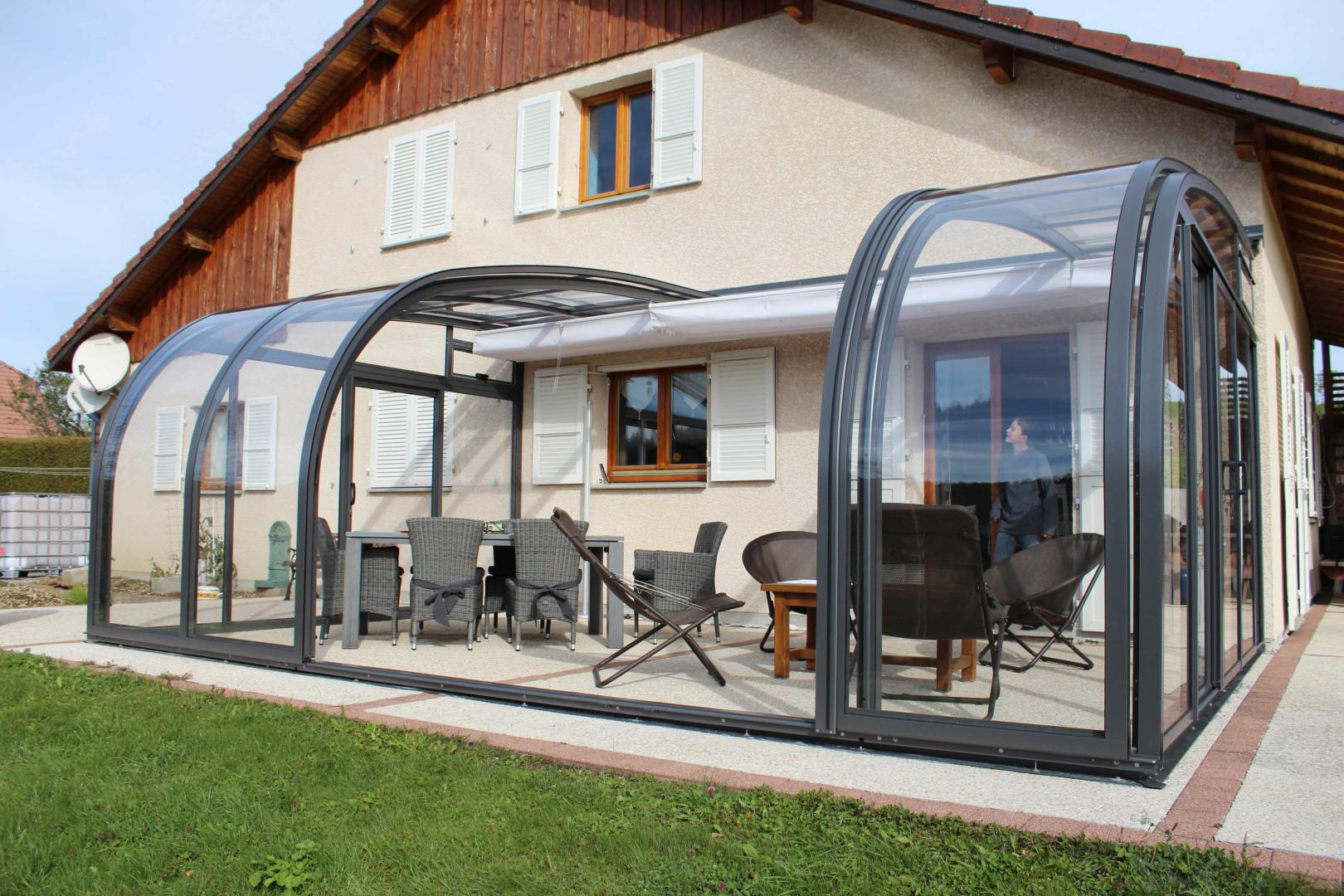 Store De Terrasse Retractable Abri De Terrasse Coulissant Et Veranda Retractable