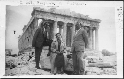 Eusebiu Camilar la Parthenon cu Mihu Dragomir si Chira Dragomir