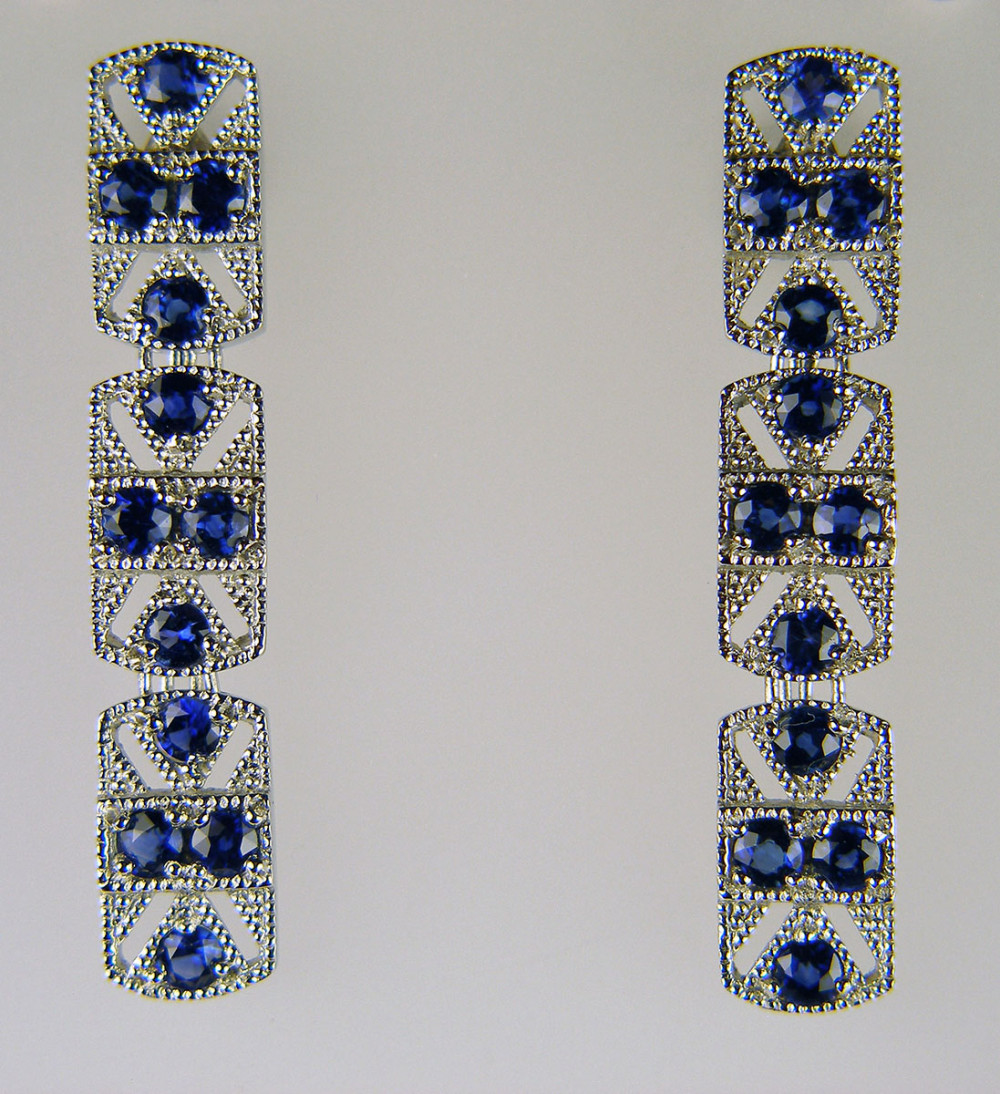 Art Deco Style Earrings Uk Just Gems Mobile Gallery