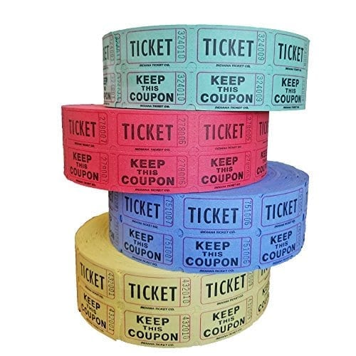 Raffle Tickets for Sale Just 4 Fun Party Rentals