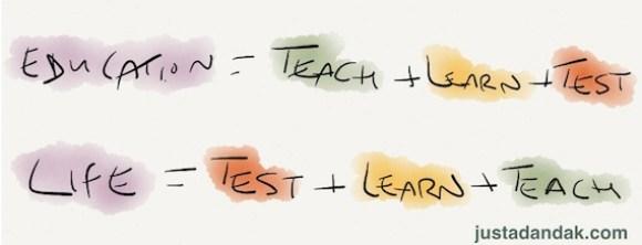 education vs life