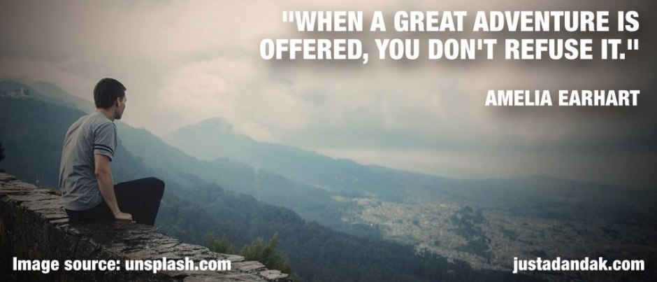 amelia earhart adventure quote