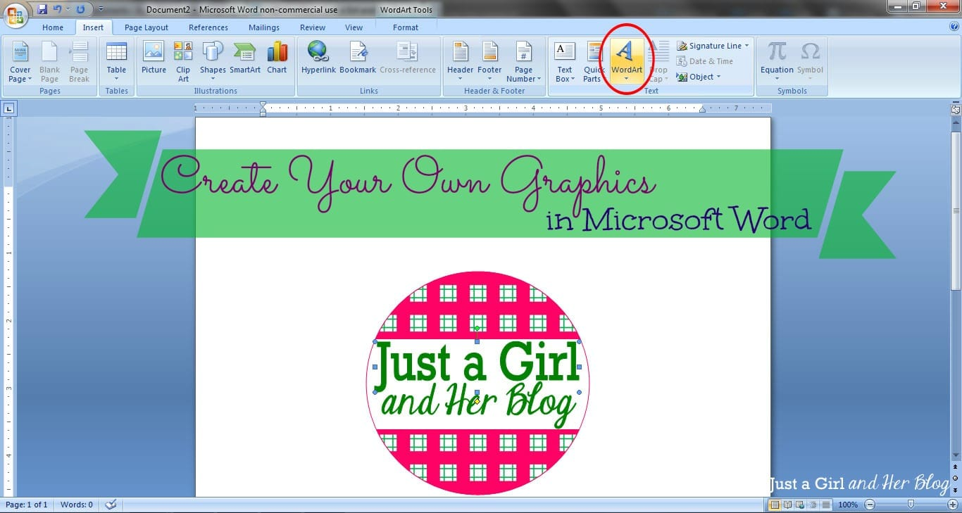 How To Make A Custom Calendar In Microsoft Word Chron Create Your Own Graphics In Microsoft Word