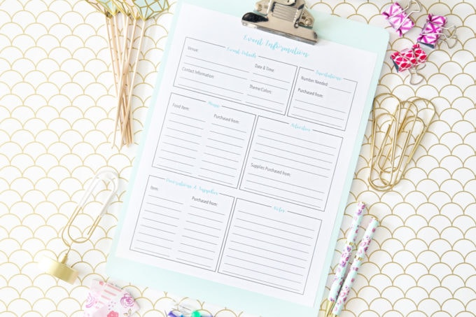 Party Planning Organized! {FREE Printables Included!}