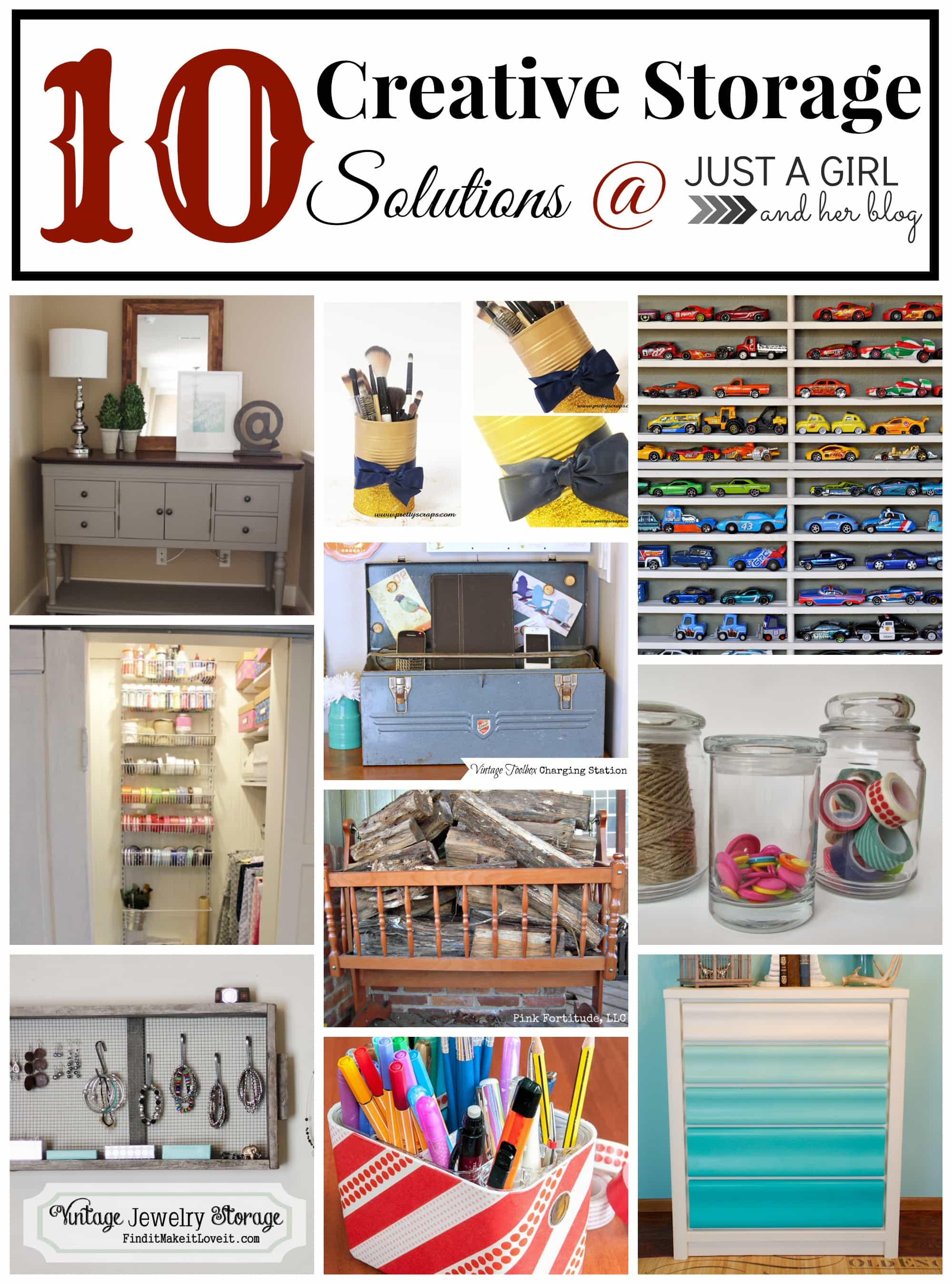 Solutions Storage 10 Creative Storage Solutions Just A Girl And Her Blog