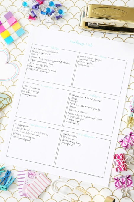 Free Printable Packing List for Organized Travel and Vacation - Vacation Packing List Printable
