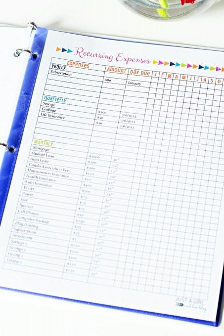 Free Printable Budget Binder Our Secret Weapon for Saving Money - free printable budget planner