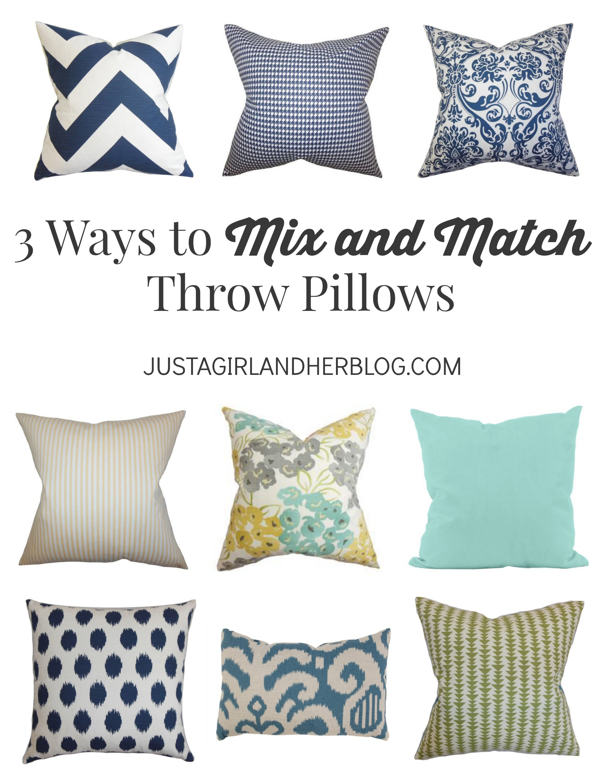 Mix And Match Deco 3 Ways To Mix And Match Throw Pillows Abby Lawson