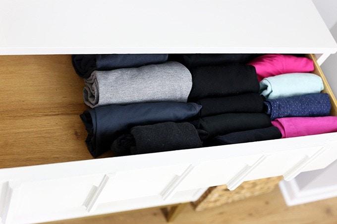 Konmari method of folding clothes carmods science
