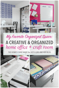A Creative and Organized Home Office + Craft Room - Just a ...