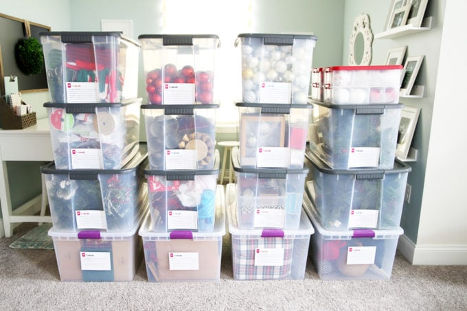 How to Organize Storage Bins (with FREE Printables!) - Just a Girl
