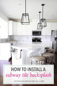 How to Install a Marble Subway Tile Backsplash - Just a ...