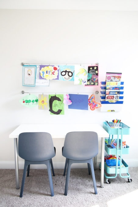 How to Declutter Kids\u0027 Toys and an Organized Playroom Tour - Just a