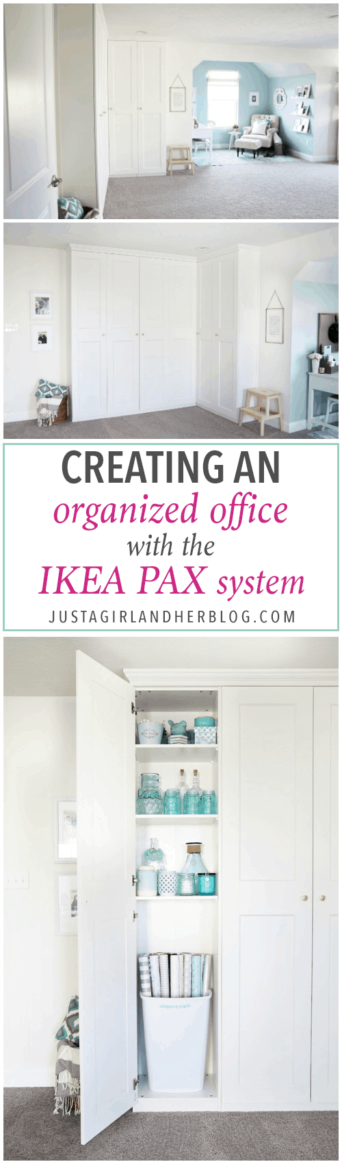 Ikea System Creating An Organized Office With The Ikea Pax System Just A