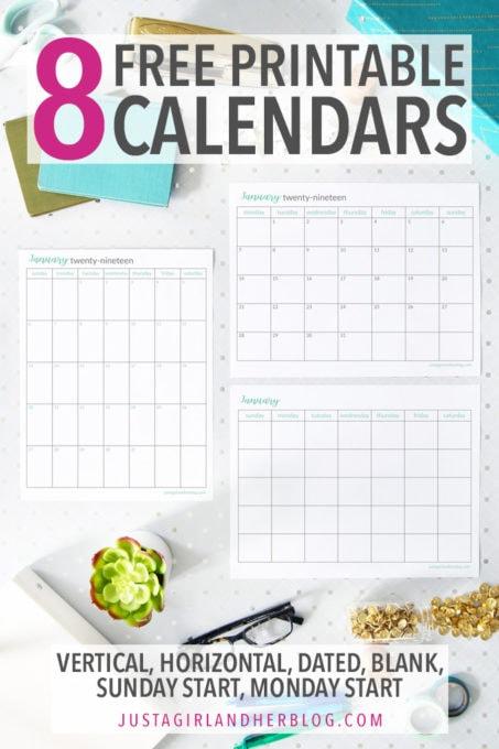 🗓 Printable Calendar 8 Beautiful FREE Calendars Abby Lawson