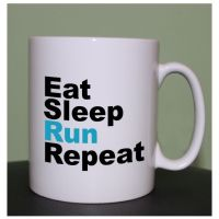 running mugs Eat Sleep Run Repeat