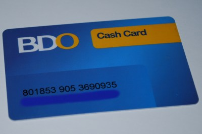 BDO Cash Card | Just a Piece of Me