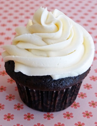 Flour's Chocolate Cupcakes with Crispy Magic Frosting