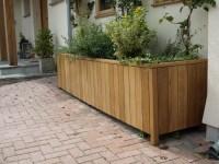 Large Wooden Trough Planter | Garden Design Ideas