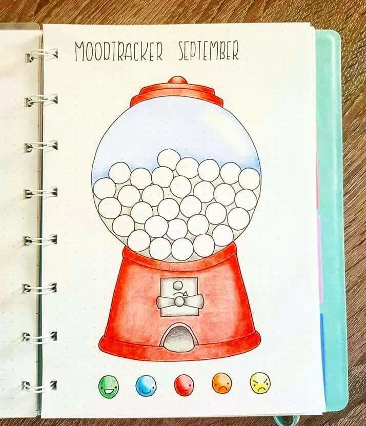 Mood Tracker Bullet Journal Ideas {Track your emotions each day!}