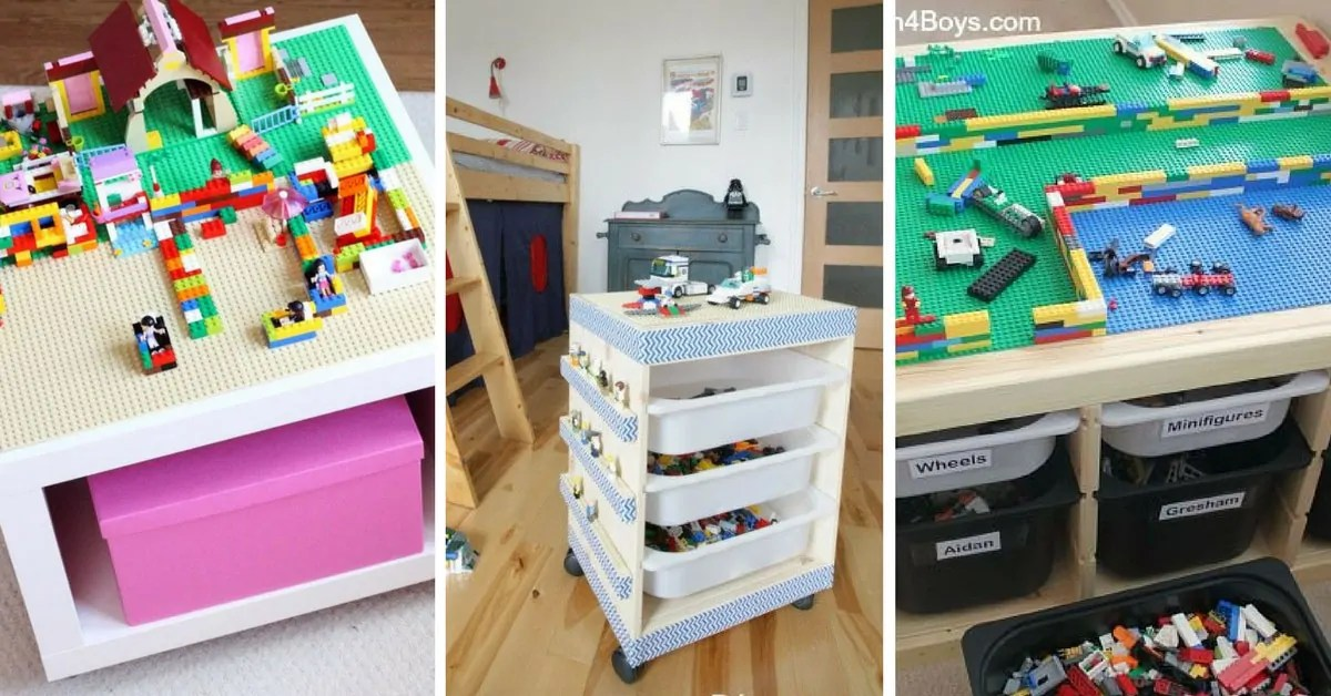 13 Awesome Ikea Lego Tables That Your Kids Will Go Crazy Over
