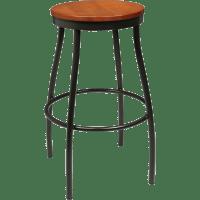 Barstools : Metal Rustic Wood Backless Stool