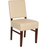 Chairs : Wood Upholstered Square Pullover Back Chair