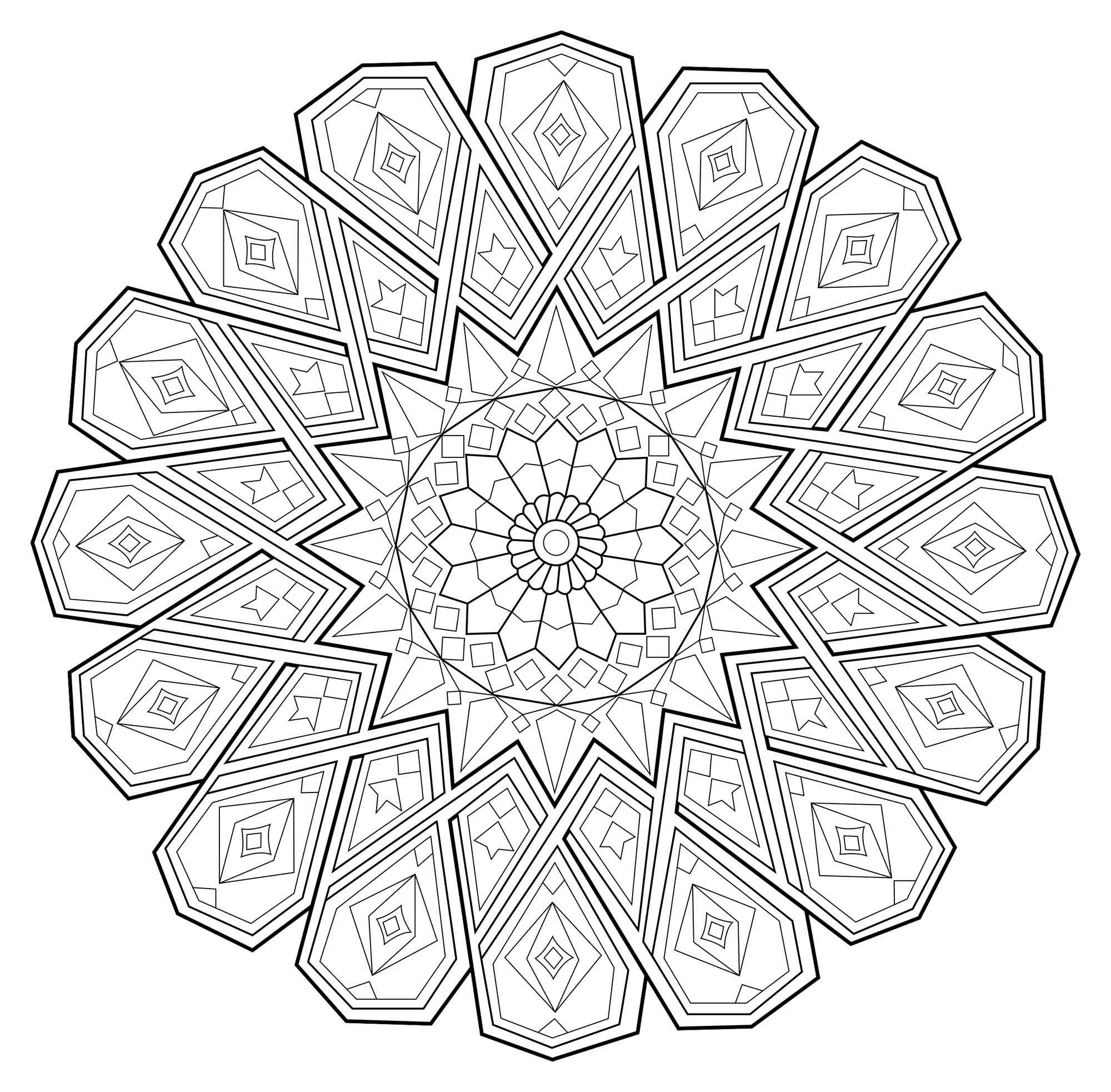 Fille Zen Mandala Zen Antistress 1 Mandalas Coloriages