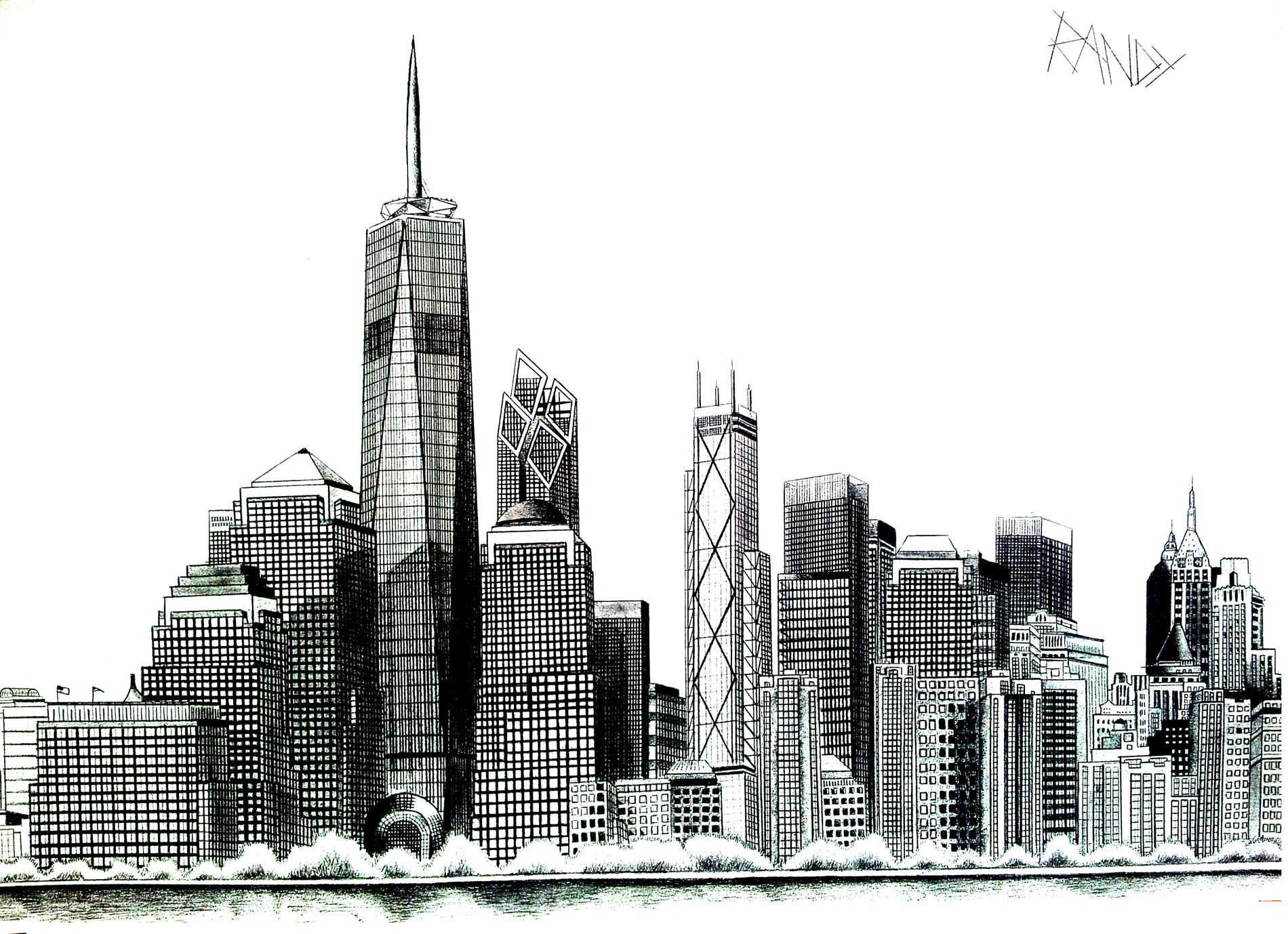 Dessin Immeuble En Perspective New York Disegni Da Colorare Per Adulti