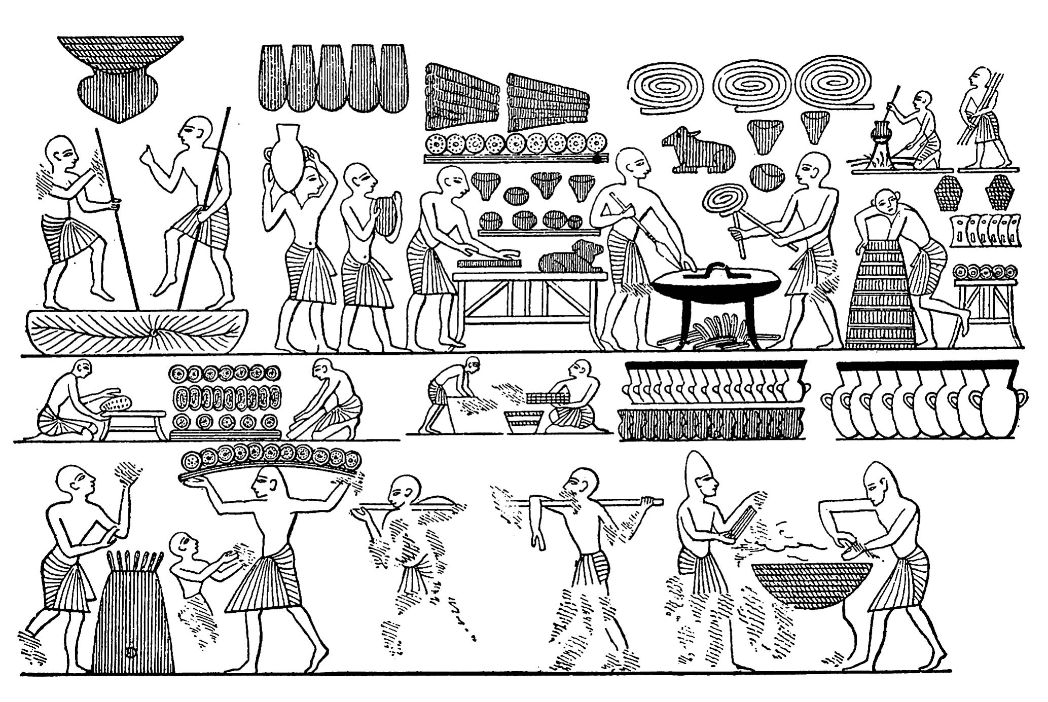 Egyptian Cuisine Book Egypt Fresco Egypt Adult Coloring Pages