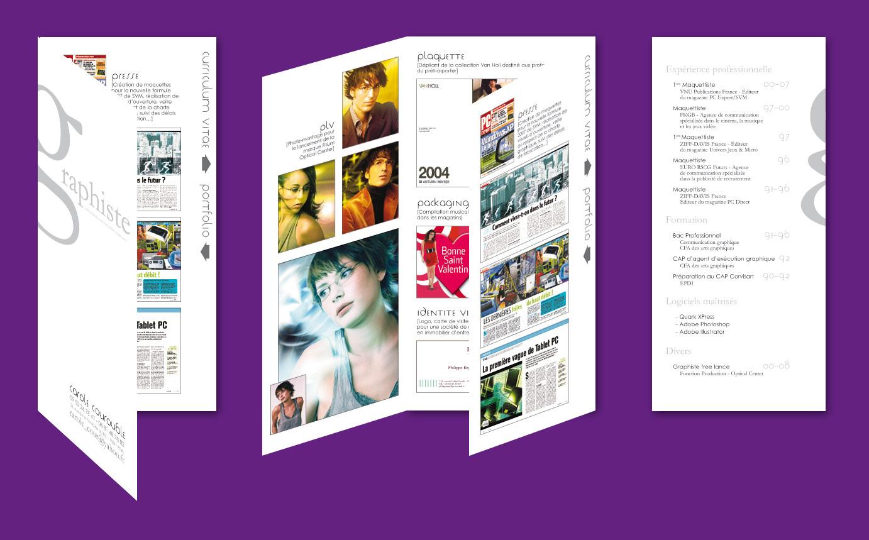 portfolio designer cv